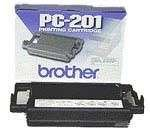 Generic Compatible Thermal Transfer Fax Print Cartridge for Brother PC-201 PC201, 450 Pages, Black