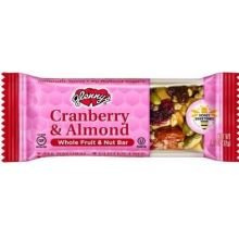 Glenn Foods Cranberry And Almond Fruit And Nut Bar, 1.1 Ounce -- 12 Per Case.