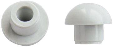 WC-Sitz-Puffer Nr. 24 | Auflagestopfen für Toilettensitz | Abstandhalter für WC-Brille | Dämpfer | Weiß | Kunststoff