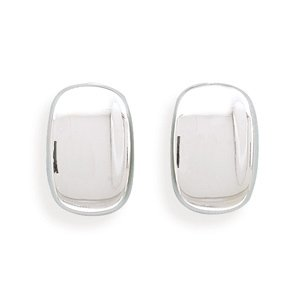 Silverflake -Rectangular Concave Clip-On Earrings