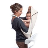 aacua Infant to Toddler 4 in 1 Multi-Use Organic Bath Towel (Organic Grey Trim) - 1