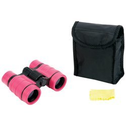 Magnacraft Compact Pink 4X30 Binoculars Neck Strap Center Wheel Focus Hinged Barrels