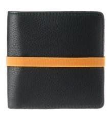Marc By Marc Jacobs Pebble Leather Elastic Billfold Wallet Black Orange