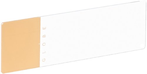 Globe Scientific 1324N Glass Microscope Slide, 25Mm Width X 75Mm Length, 90° Ground Edges With Safety Corners, Orange Frosted (Case Of 1440)