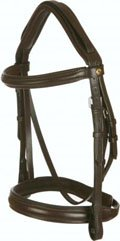 Black Country Comfort Bridle Cavesson Noseband|Full size