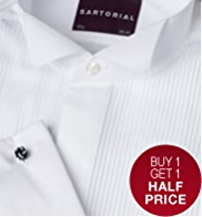 2in Shorter Sartorial Pure Cotton Pleated Dress Shirt
