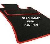 TOYOTA CELICA (1999 on) BLACK & RED TRIM CUSTOM MADE FITTED CAR FLOOR MATS SET