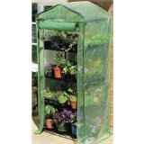 "Gardman 7610 4-Tier Greenhouse with Reinforced Cover, 18"" Long x 27"" Wide x 63"" High"