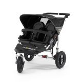 Out n About Double Nipper 360 v2 Narrow TWIN Baby Pushchair (Black)