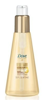 Dove Nutritive Therapy Nourishing Oil Care Anti-frizz Serum 3.3 Oz (Pack of 3)