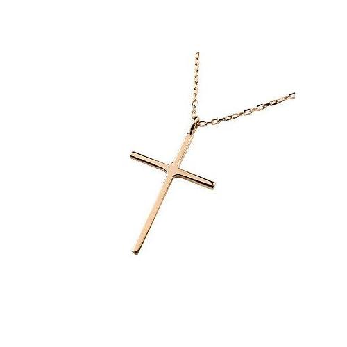 [アトラス] Atrus クロス ネックレス ペンダント ピンクゴールドK18 ローズゴールド 18金 十字架 ペンダント 地金 華奢 シンプル クロス