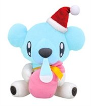 "7"" Pokemon Best Wishes Banpresto Christmas Plush - Cubchoo / Kumasyun"