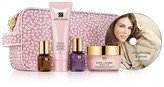 Estée Lauder Lifting/Firming Solutions 6 Pcs Set: Resilience Lift Firming/Sculting Face and Neck Creme SPF 15 1.7 oz / 50ml + Perfectionist [CP+] Wrinkle Lifting Serum Corrector .5 oz / 15ml + Advance Night Repair . 24 oz / 7ml + Soft Clean Moisture Rich Foaming Cleanser Dry Skin 1.7 oz / 50ml. + Plus a How-To DVD from the Estée Lauder experts on how to get the most from your skincare solutions and exclusive makeup tips for looks that last + Cosmetic Bag