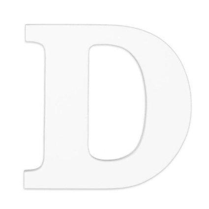 """KidKraft - Wood Letter """"D"""", White"""