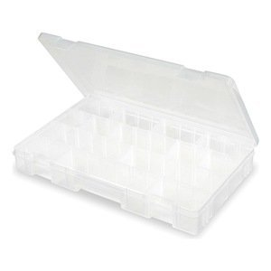 Compartment Box, Adjustable, 20 Dividers for Rainbow Loom