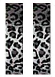 Snow Grey Silver Leopard Animal Print Safari Car Truck SUV Seat Belt Shoulder Pads - PAIR