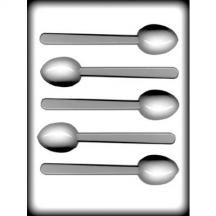 "8H-9980 1 7/8"" Mocha Spoon Hard Candy Mold Package of 3"