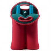Built Ny Two Bottle Tote - Ski Patrol Red