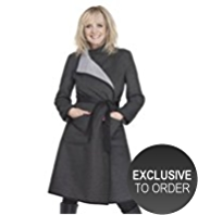 Twiggy for M&S Collection Reversible Wrap Belted Coat with Wool