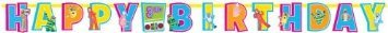 "Hip and Hop Yo Gabba Jumbo Add An Age Letter Banner Birthday Party Decorations, 10-1/2' x 10"", Multi"