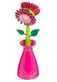 Flower Kitchen Dish Scrub Brush with Holder Set of 2 (Flower Kitchen compare prices)