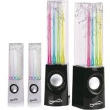Supersonic Sc-1122Blk 3 Watt Dancing Water Speakers (Black)