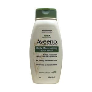 Aveeno Active Naturals Daily Moisturizing Body Wash with Natural Oatmeal, 18 Ounce Bottle