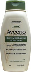 Aveeno Active Naturals Daily Moisturizing Body Wash with Natural Oatmeal, 18 Ounce