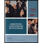 img - for Administration, Globalization and Multiculturalism - MSA 604 Custom Edition for Central Michigan University book / textbook / text book