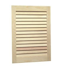 Jensen 607Adj Basic Louver Unfinished Wood Single Recessed Medicine Cabinet