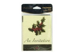 Perfect Poinsettia 8 Count Invitations/envelopes - 1