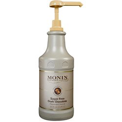 Monin Sugar-Free Dark Chocolate Sauce, 64 Ounce 