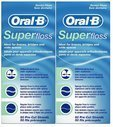 OralB Super Floss Mint Pre-Cut Strands (2 Pack) (Super Floss Dental Floss compare prices)