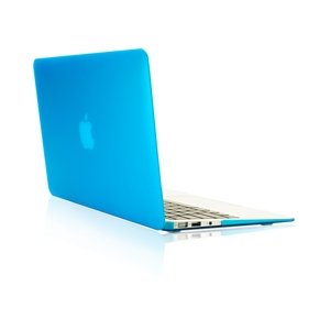 New Arrivals! TopCase Rubberized Hard Case for Macbook Air 13-Inch - A1369 and A1466 - with TopCase Mouse Pad - Aqua Blue