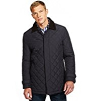 Blue Harbour Corduroy Collar Quilted Mac