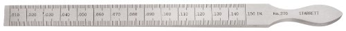 Starrett 270 7/16-Inch by 6-1/4-Inch Taper Gage Inch and Millimeter Graduation