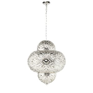 Moroccan Ceiling Light In Antique Silver 8333 3CC Kitchen Am