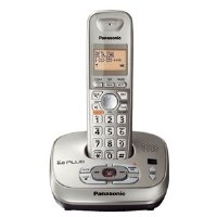 Panasonic KX-TG4021N DECT 6.0 PLUS Expandable Digital Cordless Phone with Answering System, Champagne Gold, 1 Handset (Silver)