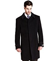 Collezione Luxury Italian Wool Coat with Cashmere