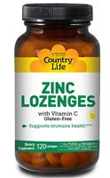 Country Life Zinc Lozenges With Vitamin C -- 23 Mg - 120 Lozenges