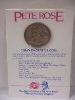 1985 Kahn's Pete Rose All Time Hit Leader Commemorative Coin
