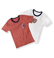 2 Pack Pure Cotton Arsenal Football Club Vests