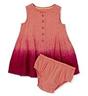 2 Piece Autograph Pure Cotton Dip Dye Dress & Knicker Set