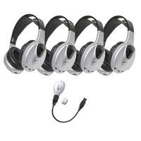 Califone Hir-Kt4 4-Person Infrared Stereo/Mono Headphones With Transmitter