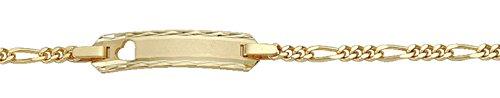 Damen Schmuck Gold Identitätsarmband Figaro / Figarokette aus 585 Gelb Gold ( 14 cm ) ( 2,1 mm ) kaufen