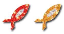 CARSON DELLOSA FISH SPARKLE STICKERS