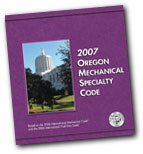 2007 Oregon Mechanical Specialty Code - Loose-leaf - International Code Council - 5130L07 - ISBN: B0018BXFCA - ISBN-13: