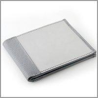Stewart/Stand Bi-Fold Crossing Slots Wallet Wallet,Silver,one size