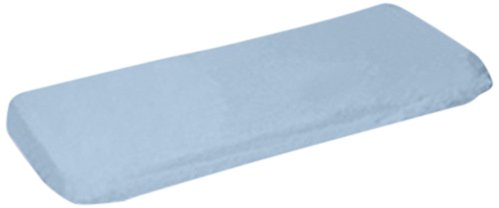 aBaby Organic Knit Contour Pad Cover, Soft Blue