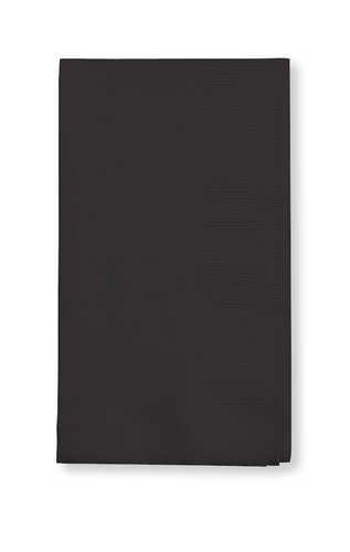 Creative Converting Value Pack Paper Dinner Napkins, Black Velvet, 16 X16, 75 Count - 1